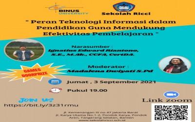 Seminar : Peran Teknologi Informasi dalam Pendidikan guna mendukung Efektivitas Pembelajaran
